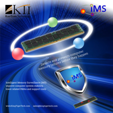 KingTiger's latest DRAM testing technology including iMS is now widely adopted in various applications and it delivering extraordinary DRAM stability and performance